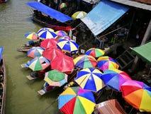 Floating market of amphawa thailand Stock Photos