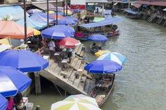 Floating market of amphawa thailand Stock Images