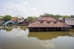 Floating Market in Ancient City Park, Muang Boran, Samut Prakan province, Thailand. Asia Royalty Free Stock Photography