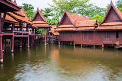 Floating market. At ancient city in Samut Prakan province, Thailand Royalty Free Stock Photos