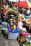 Floating market, Bangkok Royalty Free Stock Photos