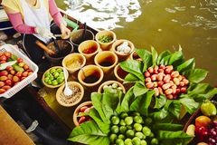 Floating market in Bangkok Royalty Free Stock Images