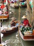 Floating market Bangkok Stock Photos