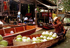 The Floating Market in Bangkok - Thailand Stock Image