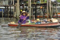 Floating market in Bangkok, Thailand Royalty Free Stock Image