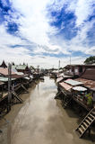 Floating market with blue sky Stock Images