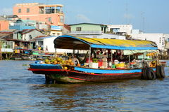 Floating market. Cai Be. Vietnam Stock Images