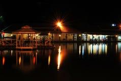 Floating market. Close at night .,HuaHin Thailand royalty free stock image