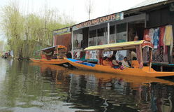 Floating Market In Dal Lake. Royalty Free Stock Photo