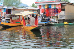 Floating Market In Dal Lake. Stock Images