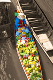 Floating market in Damnoen Saduak near Bangkok Royalty Free Stock Image