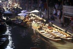 The Floating Market at Damnoen Saduak outside of Bangkok, Thailand Royalty Free Stock Photo