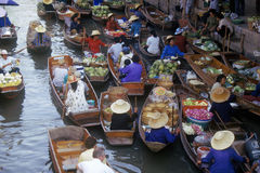 The Floating Market at Damnoen Saduak outside of Bangkok, Thailand Royalty Free Stock Image