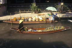 The Floating Market at Damnoen Saduak outside of Bangkok, Thailand Royalty Free Stock Images
