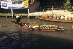 The Floating Market at Damnoen Saduak outside of Bangkok, Thailand Stock Image