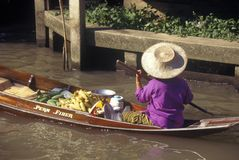 The Floating Market at Damnoen Saduak outside of Bangkok, Thailand Stock Photos