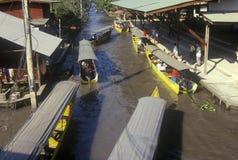 The Floating Market at Damnoen Saduak outside of Bangkok, Thailand Royalty Free Stock Photography