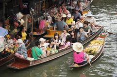 Floating market, Damnoen Saduak, Thailand Royalty Free Stock Image
