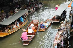 Floating market, Damnoen Saduak, Thailand Stock Photography