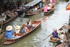 Floating market, Damnoen Saduak, Thailand Royalty Free Stock Photos