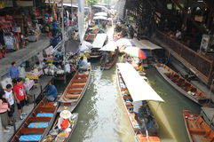 Floating market, Damnoen Saduak, Thailand Royalty Free Stock Photography