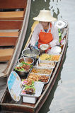 Floating market, Damnoen Saduak, Thailand Royalty Free Stock Photo