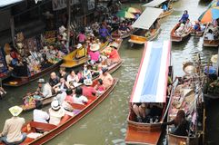 Floating market, Damnoen Saduak, Thailand Royalty Free Stock Images
