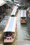 Floating market, Damnoen Saduak, Thailand Stock Images