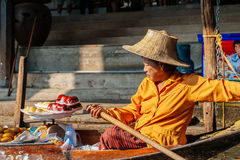 The Floating Market in Damnoen Saduak, Thailand Royalty Free Stock Photos