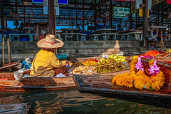 The Floating Market in Damnoen Saduak, Thailand Stock Photo