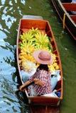 Floating market. Female trade in boating Floating Market Stock Images