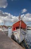 Floating market - fish selling boats Stock Image