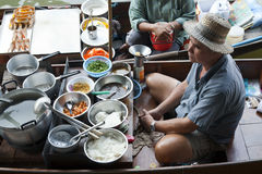 Floating Market Food Seller Royalty Free Stock Photography