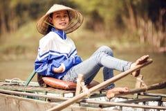 Floating market in Ha Long Bay, Vietnam Stock Photography