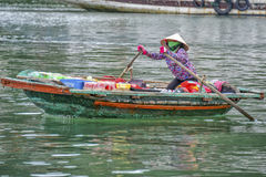 Floating market Ha Long Bay, Vietnam Stock Photography