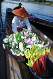 Floating market in Inle lake. Stock Photography