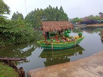 A floating market at lembang stock photos