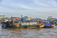Floating market, Mekong Delta, Can Tho, Vietnam Stock Image