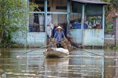 Floating market, Mekong Delta, Can Tho, Vietnam Stock Images