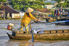 Floating market, Mekong Delta, Can Tho, Vietnam Royalty Free Stock Image