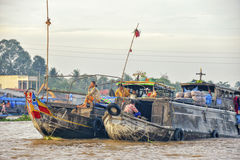 Floating market, Mekong Delta, Can Tho, Vietnam Stock Photos