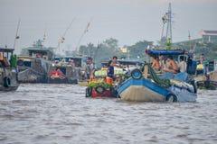 Floating market, Mekong Delta, Can Tho, Vietnam Stock Photo