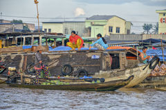 Floating market, Mekong Delta, Can Tho, Vietnam Stock Photography