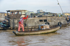 Floating market, Mekong Delta, Can Tho, Vietnam Royalty Free Stock Photography