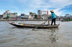 Floating market in Mekong delta, Vietnam Stock Image