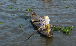 The floating market in Mekong Delta, Vietnam Royalty Free Stock Photography