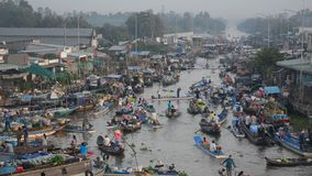 Floating market in Mekong Delta, Vietnam