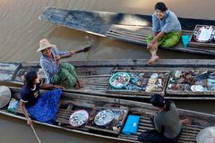 Floating Market, Myanmar Royalty Free Stock Photography