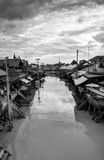 Floating market near Bangkok in Thailand Royalty Free Stock Photos