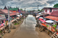Floating market near Bangkok in Thailand Royalty Free Stock Photography